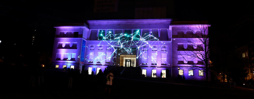 Laser projection at House of European History