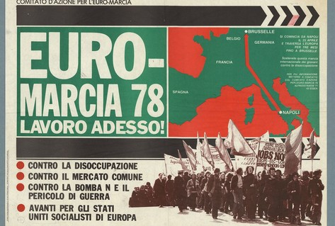 Poster Italy, marchers against social issues