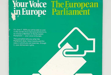 Green leaflet for first European Parliament elections
