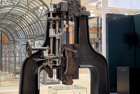 Large metal Nasmyth steam hammer from Great Britain