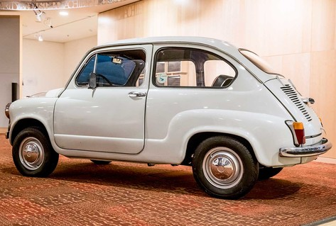 White Zastava car from 1970s Yugoslavia