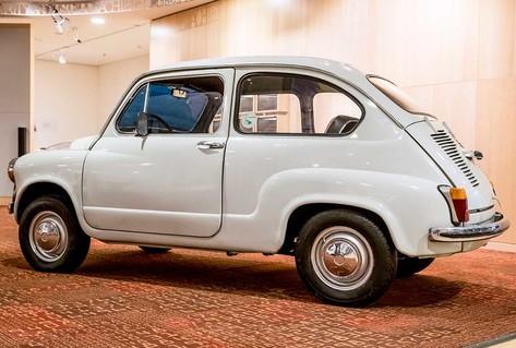 White Zastava car from 1970s Yugoslavia