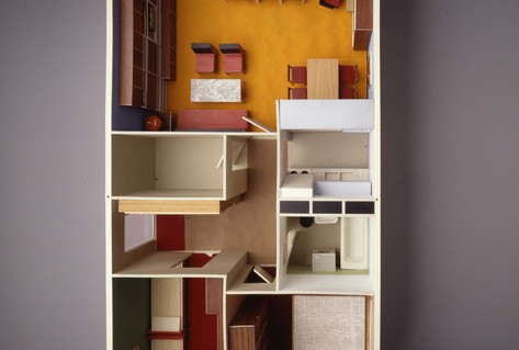 Aerial picture of modernist 3 bedroom flat from 1970s Germany
