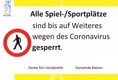 Poster in German forbidding sports games
