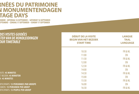 Heritage Days Timetable