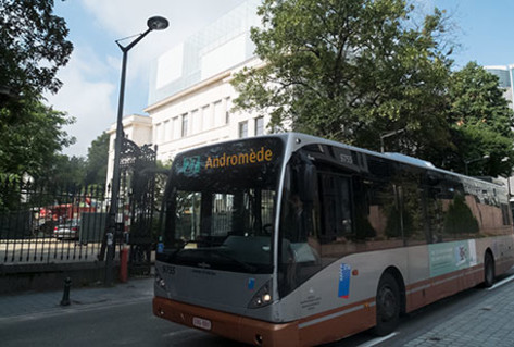 Brussels STIB public transport bus to House of European History