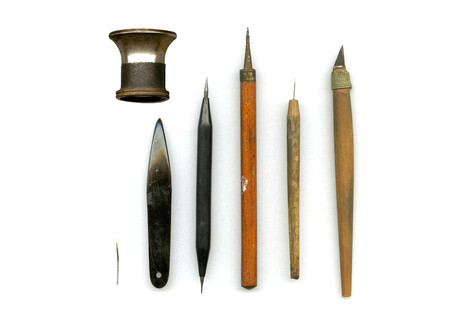 Tools used by the resistance in the Personal Identification Card Centre in Amsterdam to forge personal documents