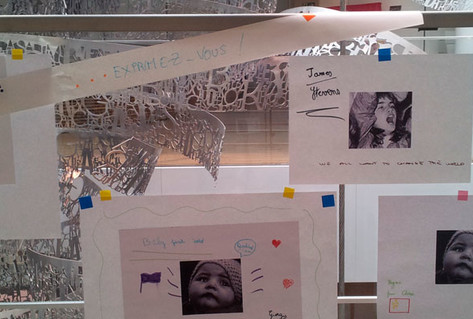 Childrens' drawings from museum workshop on migration