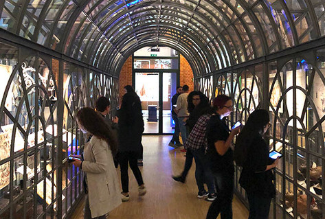 Teachers visiting 3rd floor of museum - crystal palace