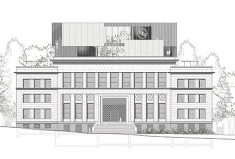 Σχέδιο του κτιρίου Eastman