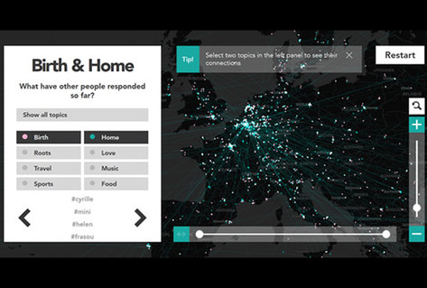 Video results of Interactions digital map