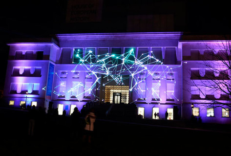 Laser projection show on House of European History