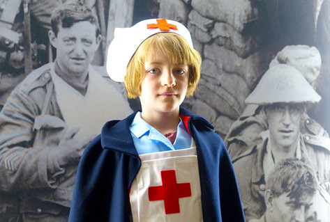 Girl in nurse costume