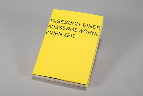 Yellow diary with title