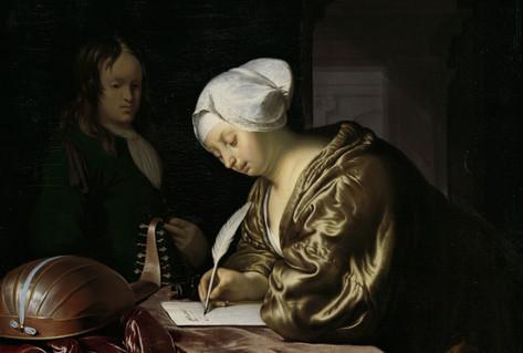 Painting letter writer Frans van Mieris