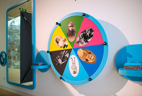 Wheel of fortune in family spaces