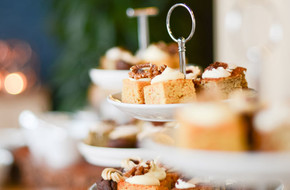 Selection of cakes on plates