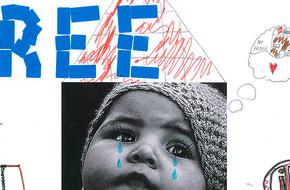 Children's drawing child refugee