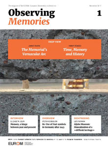 Front cover of Observing Memories magazine