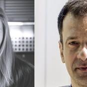 Headshots of two Moldovan - Romanian authors