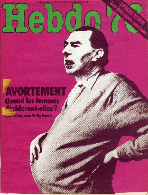 Cover magazine pregnant man 1970s
