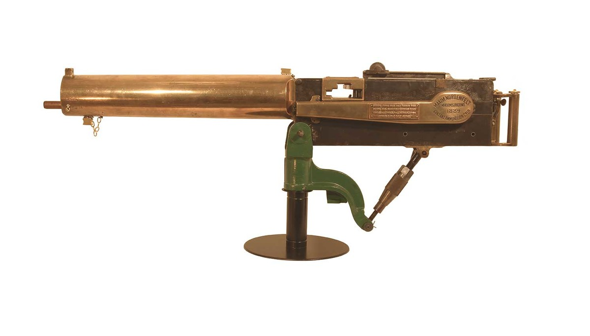 Metal Rapid fire Maxim machine gun 19 century