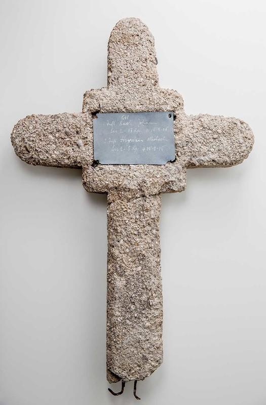 Stone cross grave marker