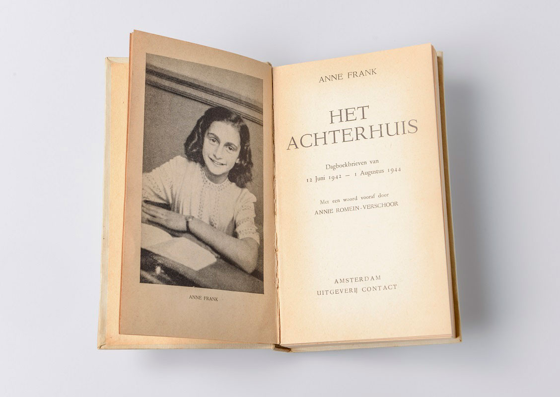 Inside front cover diary image Anne Frank