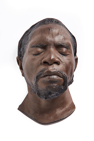 Plaster cast zulu male head